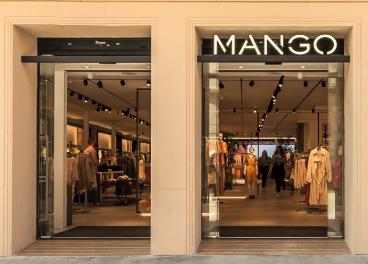 Fachada de tienda de Mango