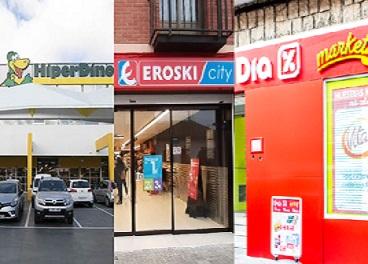 Tiendas de DinoSol, Eroski y DIA