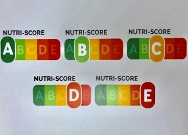 Modelo Nutriscore propuesto por Sanidad