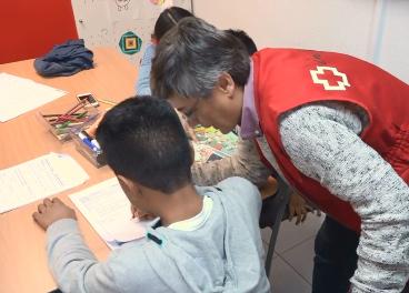 Cruz Roja, con los niños