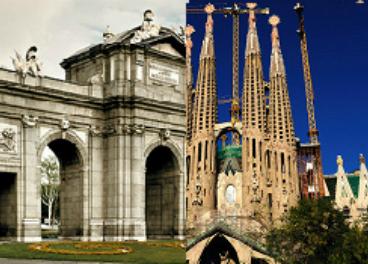Imágenes de Madrid y Barcelona