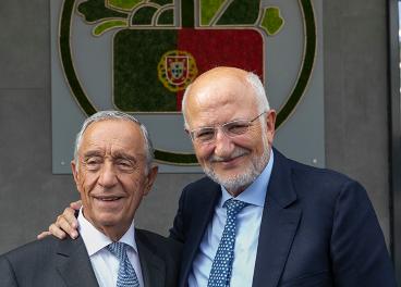 Roig y el presidente de Portugal, Marcelo Rebelo