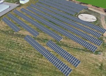 Futuro parque solar en la fábrica de Nestlé