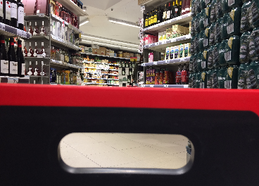 Carrito en un supermercado
