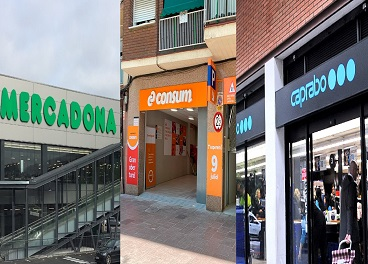 Tiendas de Mercadona, Consum y Caprabo