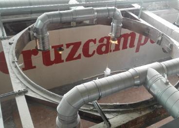 Obras en la nueva fábrica de Cruzcampo