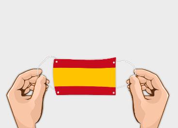 Mascarilla bandera de España