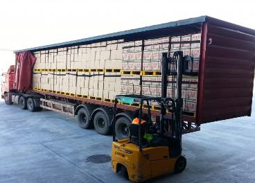Trabajos logísticos de Spar y Coca-Cola