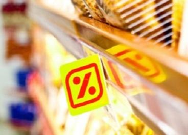 cartel de precio en una tienda de DIA