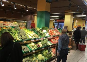 Sección verduras en Gadisa