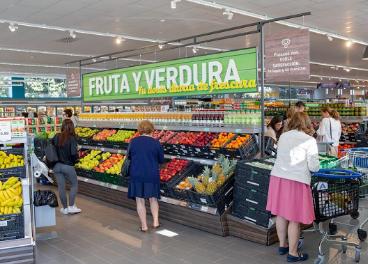 Interior del nuevo Aldi inaugurado en Madrid