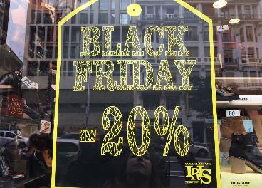 Cartel promocional del Black Friday