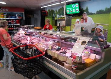 Interior del supermercado de Covirán