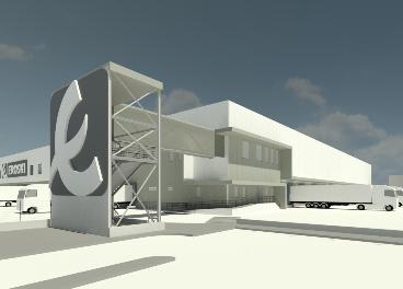 Futuro bloque logístico de Eroski en Álava