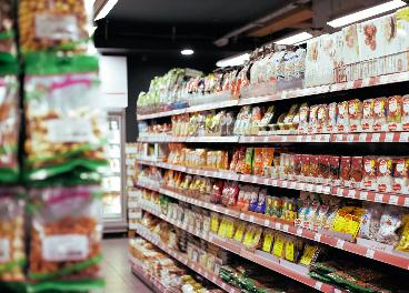 Productos en un supermercado