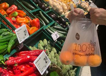 Bolsa compostable en Consum