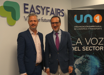 Matt Benyon (Easyfairs) y Francisco Aranda (UNO)