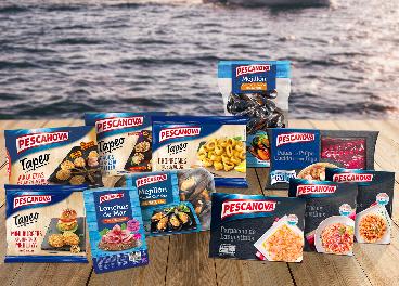 Bodegón de productos de Pescanova