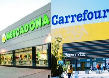 Mercadona y Carrefour, las preferidas