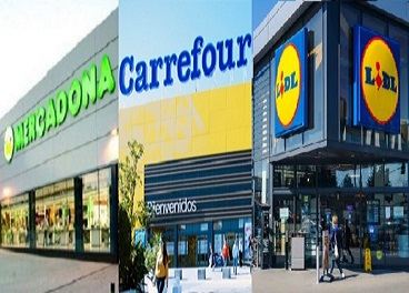 Mercadona, Carrefour y Lidl, líderes