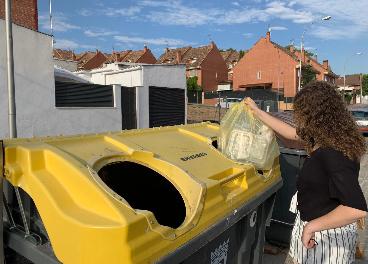 Reciclaje de plásticos domésticos