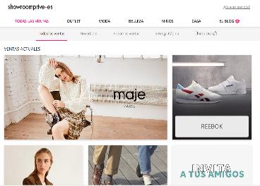Portal de Showroomprive en España