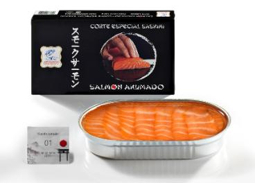 Salmón sashimi de Ahumados Domínguez