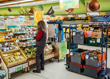 Preparado de un pedido online de Consum
