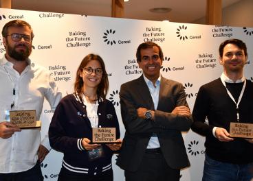 Jordi Gallés y los premiados del concurso