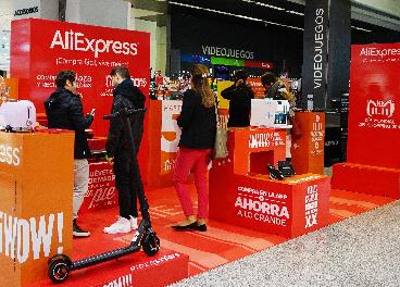 Tienda temporal de AliExpress en El Corte Inglés
