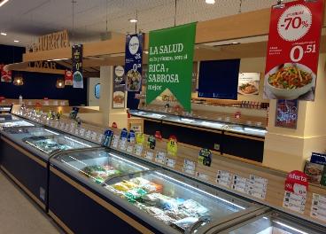Interior de supermercado La Sirena