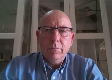 Alberto Herranz, de Interporc, durante el webinar