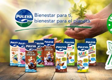 Envase con pajita cartón de Puleva