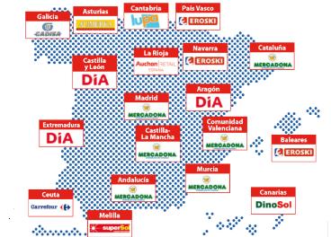 Líderes regionales en superficie comercial
