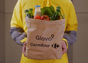 Repartidor de Carrefour y Glovo