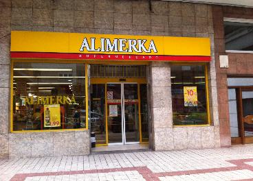 Supermercado de Alimerka en Gijón (Asturias)