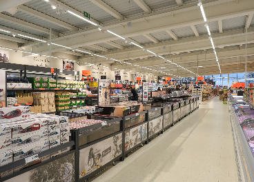 Interior de la tienda de Lidl