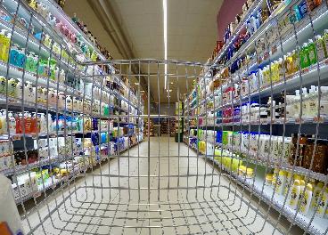 Carrito en el supermercado