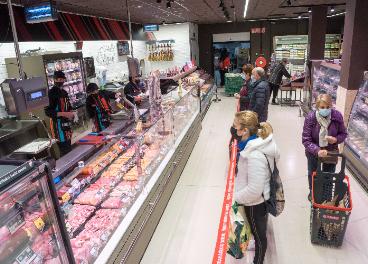 Interior de tienda Eroski