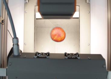 cámara hiperespectral y melocotón