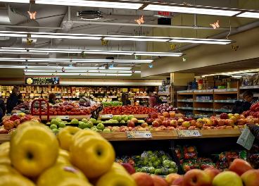 Frutas en supermercado