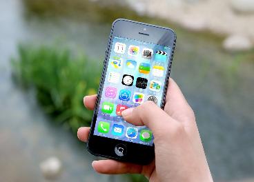 Aplicaciones móviles en un smartphone