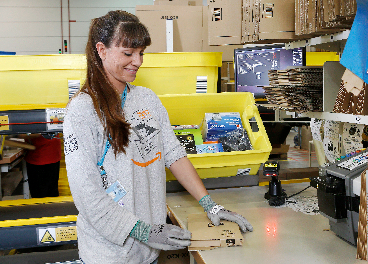 Trabajadora de Amazon