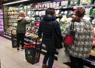 Interior del nuevo supermercado de Eroski