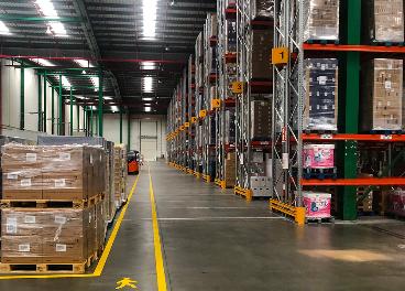 Interior de la nueva plataforma de ID Logistics