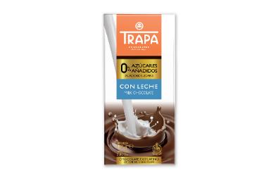 Chocolate Trapa con leche 0% azúcares añadidos