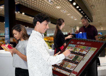 Clientes en un supermercado