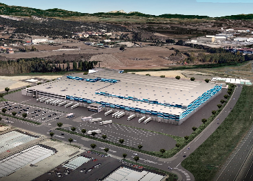 Futuro almacén logístico de Lidl en Álava
