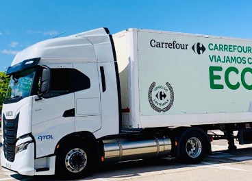 Camión Iveco de ATDL para Carrefour