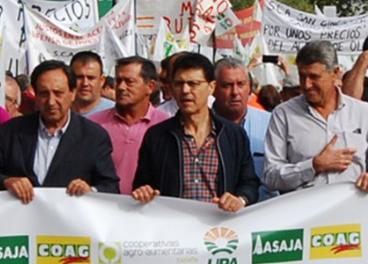 Manifestación de Asaja, COAG y UPA